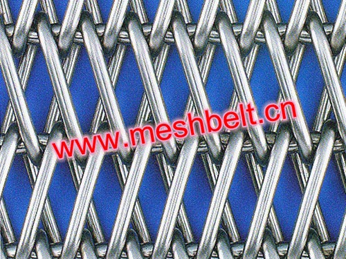 Double balanced weave wire mesh belt