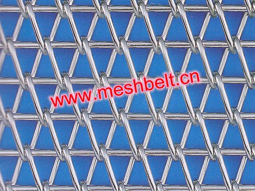 Rod reinforced wire mesh belt