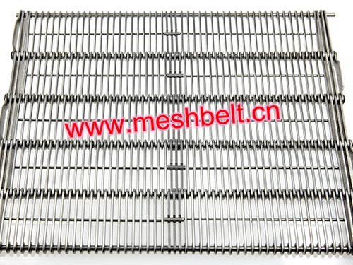 Wire ring belt eye-link conveyor belt